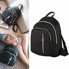 Fashion Women Black Small Backpack Travel Oxford Cloth Handbag Shoulder Bag