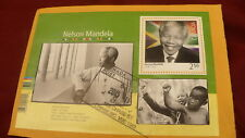 Nelson Mandela cancelled pane sheet #2805 Canada postage stamps  P495