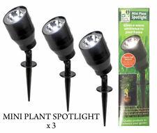 Night Spot Light Mini LED Plant Spotlight Auto Sensor Security Garden Plants x 3