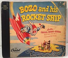 Vintage Capitol 45 RPM Record & Reader BOZO & HIS ROCKET SHIP