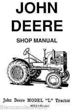John Deere Models L LA  LI  Y and 62 Tractors SERVICE MANUAL also LU - E Engines