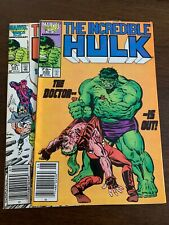 New listing Incredible Hulk #320 - 321 (1986, Marvel) Lot Of 2 Newsstand variants Vf+s