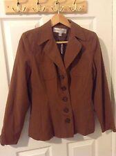 Analogy Women's Brown jacket Size 8