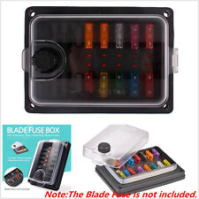 LED Indicator IP56 Waterproof Blade Fuse Box Holder Block ATC ATO 10-Way 250 Amp
