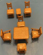 Vintage Barbie Skipper Doll Furniture Tables + Chairs Diorama Display Or Play