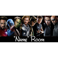 Marvel Personalised Bedroom Door Sign  - Any Text/Name (8)
