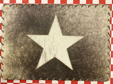 """ONE 17""""x12"""" RECTANGULAR COWHIDE LEATHER PLATE TABLE MAT HAIR ON LEATHER STAR (I)"""
