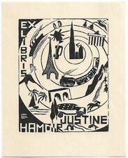 LUCIENNE MARCHAL: Exlibris für Justine Hamoir; Reisen