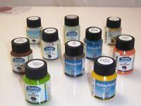 10 verschiedene Farben a 59 ml Nerchau Hobby Acrylfarbe 2 Wahl