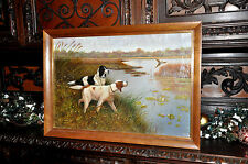 lovely early 20th Century  Hunting Dog   Painting