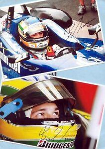 Bruno SENNA - 2 TOP AK - Bilder - Print Copies - 21cm x 15cm + AK F1 - SIGNIERT
