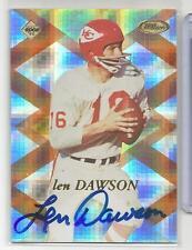 1998 Collector's Edge Football Len Dawson On Card Autograph Chiefs # 351/2000