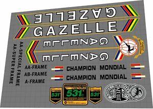 Gazelle Champion Mondial Decal Set