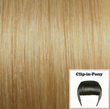 Clip-In-Pony mittelblond #16, Remy-Echthaar, Premium-Haarpony mit Clips