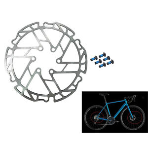 Bicycle 160mm Rotor Disc Brake Rotor 6 Bolts Stainless Steel Ultra-Light Rotor