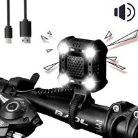 Waterproof Rechargeable LED Bicycle Headlight Front Bike Head Light Lamp + Horn
