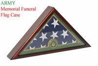 Army Flag Display Case Box, 5'x9.5' Burial - Funeral - Veteran Flag Case