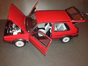 VW Golf 2 GTI rot Hachette fertig gebaut 1:8 (ca. 5kg schwer) Ausstellungsstück