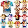 Dragon Ball Z Super Saiyan Goku Vegeta 3D Print T-Shirt Women Men Short Sleeve