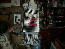 FREE FOR HUMANITY  Wonderful Striped Bling Dress Size S