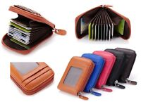 5 Colours -  RFID Mens Womens Wallet Security Lined Full Grain Cow Leather M10 C