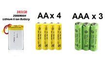 3.7V 2000mAh Lipo | 1.2V 600mAh AAA x3 | 1.2V AA 700mAh x4 |Rechargeable Battery