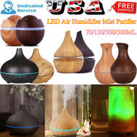 70ml-500ml LED Oil Aroma Diffuser Aromatherapy Air Humidifier Mist Purifier US