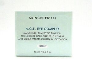 SkinCeuticals A.G.E. Eye Complex Mature Skin Remedy To Diminish ~ 15 ml / 0.5 oz