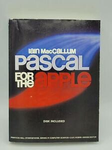 Pascal Programming For The Apple Iain MacCallum Softcover Book 1983 w Floppy
