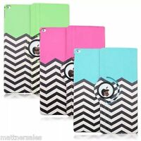 360 ZigZag Rotating Leather Stand Case Cover for Apple iPad Air Mini 2 3 4 PRO