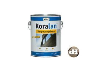 KORALAN, Vergrauungslasur 2,5 Liter 15,20 €/l f. Carport, Rhombusprofile, Zäune