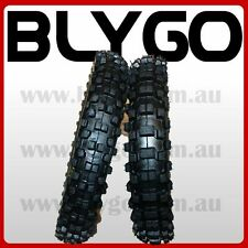 """GL 60/100- 14"""" Front 80/100- 12"""" Inch Rear Knobby Tyre Tire + Tube PIT Dirt Bike"""