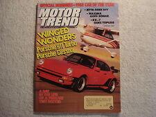 Motor Trend 1988 January Porsche 911 VW Jetta Oldsmobile Cutlass Mazda RX-7