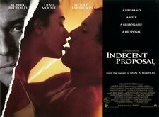 Indecent Proposal movie poster - Demi Moore, Woody Harrelson, Robert Redford