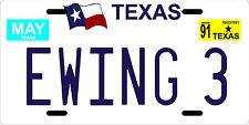 J.R. Ewing 3 Dallas TV show last episode 1991 Texas License plate