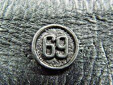 Round 69 Classic Vintage Biker Pin Jacket Vest Pin 1164a