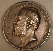 Sweden Oscar II Silver Horse Breeding Medal Circa: 1900 ** Free U.S. Shipping **