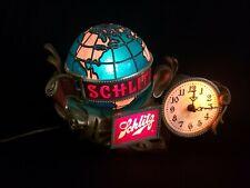 Vintage Schlitz Beer Globe Bar Light / Lamp with Clock