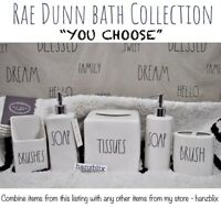 "Rae Dunn Bath BRUSH SOAP CLEAN TISSUE WASH Rug Dispenser ""YOU CHOOSE"" NEW '19-20"