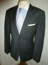 ted baker grey winter suit formal office 2 piece mens jacket & trousers 38 x 32