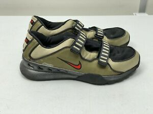 NIKE AIR LITE TRAINERS, GREY/BLACK/RED, UK SIZE 9, RUNNING GYM LIGHT WEIGHT