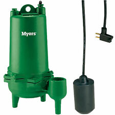 "Myers MWH50-21P - 1/2 HP Cast Iron Sewage Pump (2"") w/ Tether Float Switch (2..."