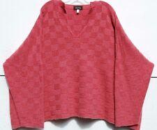 Eskandar PINK Bergdorf Goodman Cashmere Basket Weave V-Neck Sweater O/S $2190