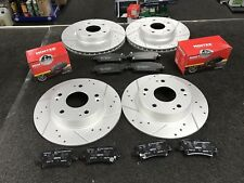 HONDA CIVIC 1.4-i-VTEC TYPE S VTEC DRILLED GROOVED BRAKE DISC MINTEX BRAKE PAD