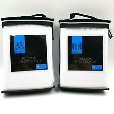 """Bedworks Pillow Protector Size 20"""" X 36"""" Set of 2 Sleeps Cooler Than Cotton New"""