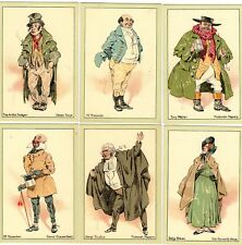 More details for set 10 characters from dickens by kyd john player & son cigarette cards ref m649