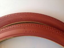 (2x) 26x2.125 Clay(brown) Cruiser Bicycle Tires Brick Pattern