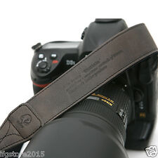 New Matin Leather Camera Strap Vintage-38 D/Gray for Canon Nikon Sony DSLR Strap