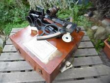 Vintage Huson 36163.Hughes & Son Sextant with case and accessories 1943