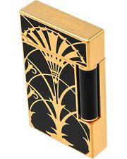 ST DUPONT Art Nouveau Ligne 2 Lacquer Lighter w/Gold Finish 016063 MSRP $3,165